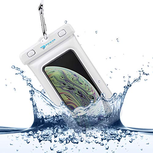 Power Theory wasserdichte Handyhülle - Wasserfeste Handytasche Handyschutz Cover Beutel Beachbag Tasche Handy Hülle Waterproof Case - iPhone X/XS 8 7 6s Samsung S10 S9 S8 S7 & viele mehr (Weiß)