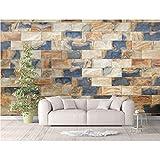 Hyllbb Azulejos Decorativos De Piedra Natural De Granito - Mural De Pared Extraíble |Papel Pintado Grande Autoadhesivo-200Cmx140Cm