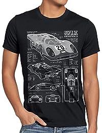 style3 917K Dessin Bleu T-Shirt Homme Le Mans