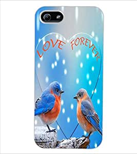 ColourCraft Love Birds Design Back Case Cover for APPLE IPHONE 5