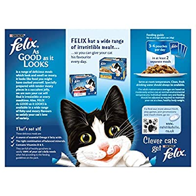 Felix As Good As It Looks Meat Selection Cat Food, 12 x 100 g from Nestle Purina Petcare (UK) Ltd