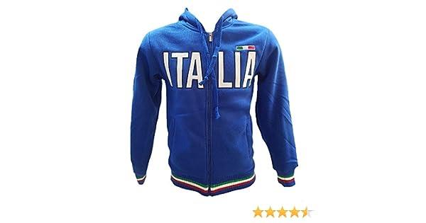 BrolloGroup Felpa Uomo con Cappuccio Italia Turistica Azzurra o Grigia PS 32587