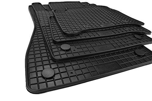 kfzpremiumteile24 Gummimatten Original Qualität Fußmatten Gummi schwarz 4-teilig
