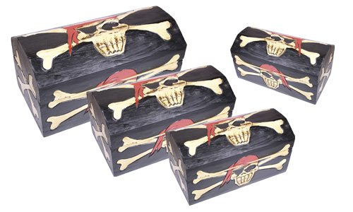 Madera spielerei PU1040 – 0 – Piratas Caja Captain Jack Set