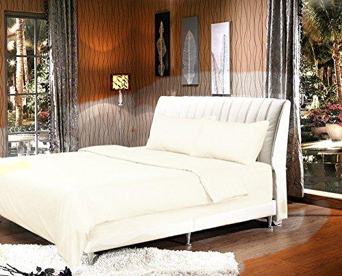 weiß Bettbezug Set, Textil, weiß, Twin XL (Twin Quilt Elfenbein)