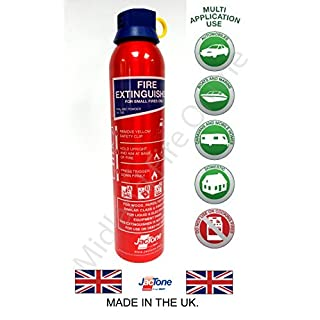 600g ABC Fire Extinguisher for Caravan, Home, Office, Car, Taxi by Midland Fire On-Line