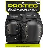 Pro-Tec Street Knee/Elbow Protecciones, Unisex Adulto, Black, L
