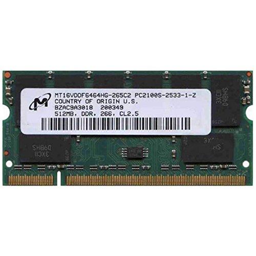 512MB Ram Laptop SODIMM Micron mt16vddf6464hg-265C2DDR1pc-2100266MHz -