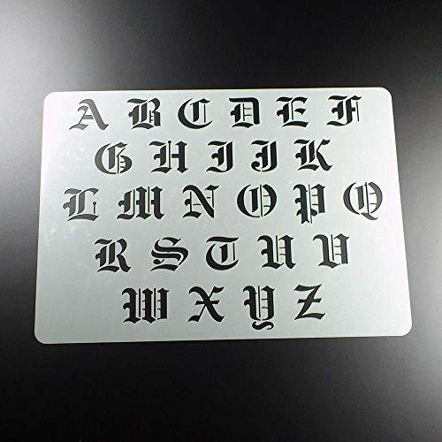 Schablone Buchstaben Satz A - Z Groß - BF05