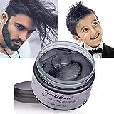Nouveau Cire de Cheveux, HailiCare Coloration Cheveux Gris Temporaire Naturel et Hydratant pour Hommes et Femmes
