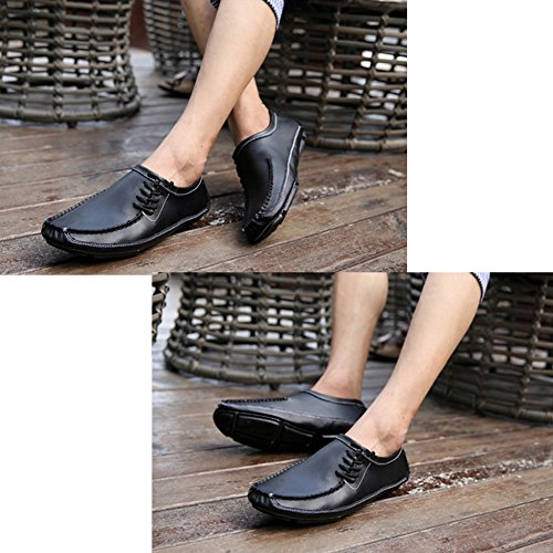 Hommes Loisirs Mode Chaussures Chaussures de Conduite en Cuir Lacets Mocassins Noir