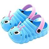 Kleine Tomate Unisex Kinder Hausschuhe Kinder Clogs Gartenschuhe Raupe Bequemer Atmungsaktiv Strand Aqua Slippers, Blau, Gr. 26(Schuhe Innenlänge:155mm)