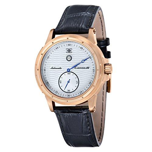 Thomas Earnshaw orologio da uomo, colore: Nero (modello: 'Ashton' automatico in acciaio INOX e pelle casual es-8045–05)