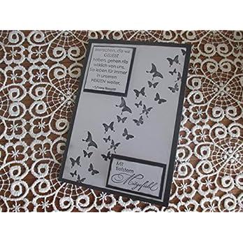 Trauerkarte Schmetterlinge