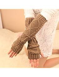 Torcer hilo a tejer guantes de medio dedo de múltiples funciones de la raya ,