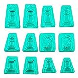 Blue Vessel 6pcs International Chess Silikon Backform Gebäck Kuchen Mold Schokolade Dekorieren Tools
