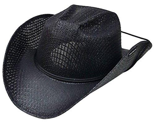 modestone-unisex-straw-cappello-cowboy-chinstring-black