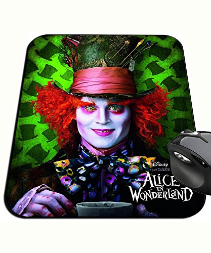 Alicia in El Pais De Las den Wundern Alice in Wonderland Johnny Depp Mad Hatter Tim Burton Mauspad Mousepad PC