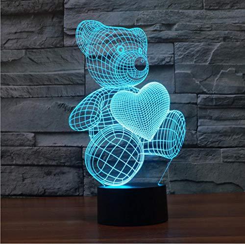 Awards gedenk 3d kleine tischlampe touch 7 farbe usb fernbedienung energiesparende augenbett lampe -