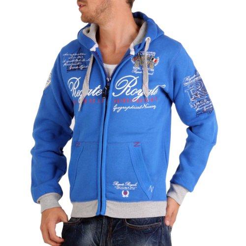 Geographical Norway-Fregatte-Giacca con cappuccio da uomo, colore: blu royal Blu reale