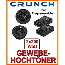 Crunch GTI 52 parlantecon 13 cm Opel Astra G 1998-2004 5doors adaptador en la parte trasera