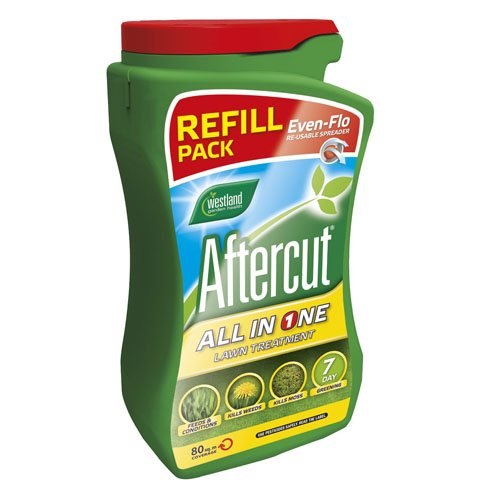 aftercut-all-in-one-lawn-feed-weed-and-moss-killer-even-flo-spreader-refill-80-sq-m-28-kg