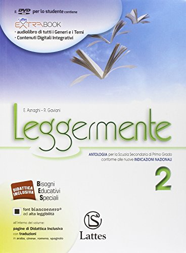 Leggermente. Con La letteratura-Libro delle competenze online. Per la Scuola media. Con DVD-ROM. Con e-book. Con espansione online: 2