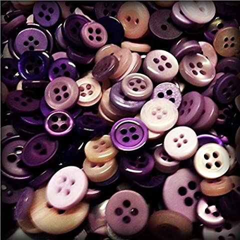 ASVP Shop® 100 Small Coloured Buttons Wedding Decorations Table Centrepiece Craft Art Kitsch
