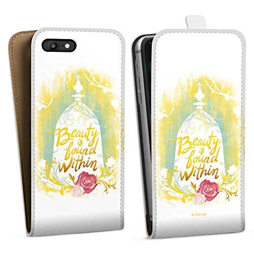 Apple iPhone X Silikon Hülle Case Schutzhülle Die Schöne und das Biest Disney Rose Downflip Tasche weiß