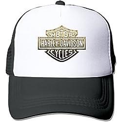 maneg Harley Logo Funny Trucker gorro con malla talla única (en 5colores) tapas - negro -