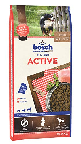 Bosch Hundefutter Active, 1er Pack (1 x 15 kg)
