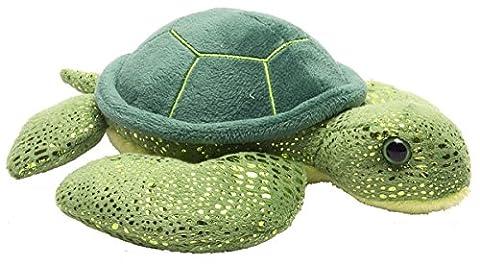 Wild Republic 18 cm Hug'ems Sea Turtle Plush Toy (Green)