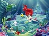Fototapete ARIELLE 254x184 Disney's kleine Meerjungfrau, rothaarige Nixe, Kinder