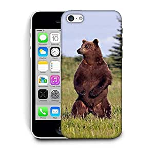 Snoogg Standing Bear Printed Protective Phone Back Case Cover For Apple Iphone 5C