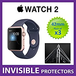 Apple Watch Series 2 42mm iWatch Screen Protector by SUPREME SHIELDS - Military Grade Protection PACK OF 3