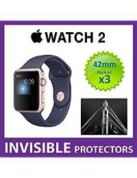 2de la serie Apple Watch 42mm iWatch Protector de pantalla por supremo escudos–grado militar protección Pack de 3