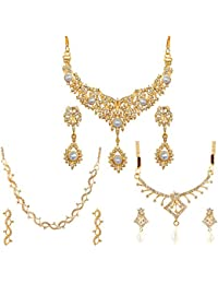 Touchstone Combo Of 2 Piece Necklace Set & 1 Semi Necklace Set For Women