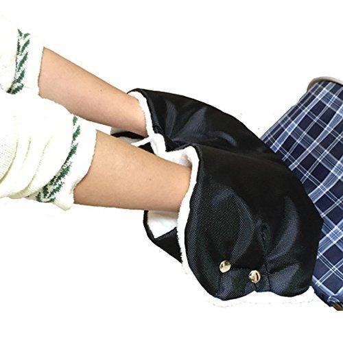 Saco con forro polar para abrigar las manos, accesorio de cochecito de bebé, guante/saco/calentador grueso y cálido, sin dedos, para evitar la congelación de manos, para manillar único