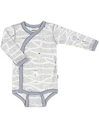 Joha Baby Schlafoverall Merino-Wolle Viskose Bamboo Mädchen Landkarte lila orchi
