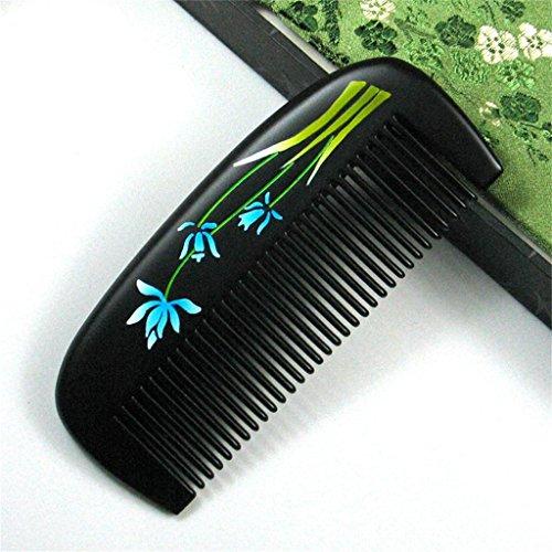 Valentine 's Day lacca pettine - Narciso Fiore Sandalo Comb Gift Box regalo di compleanno di legno Combs