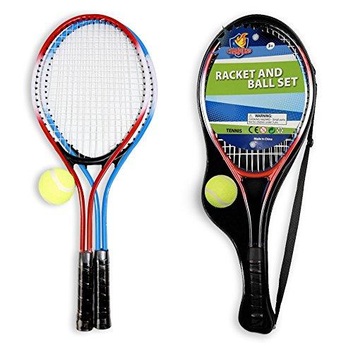 VINSANI Tennisschläger Set [2Schläger und Ball] Outdoor Sports Toy Play Spiel Set