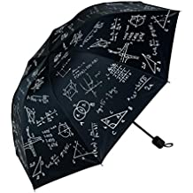 JAYLONG Travel Umbrella 8 Ribs Chalk and Formula Robusto portátil de acero inoxidable de construcción de
