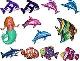66cm all' ingrosso stagnola Fish, sirene e gli sport acquatici (10pezzi, scegli il disegno)