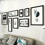 hjky Bild Wall Set Die Wohnzimmer Gemälde der Sofa Nordic Home Schlafzimmer Aufhängen Bild Kombination aus modernem minimalistischen Wand Gemälde Wandmalereien 248Cm*103cm black