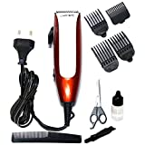 Gemei GM-1010 Professional Hair Clipper with Ergonomically Shaped Body & Powerful Motor, White