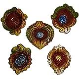Bella Fiero Diya Decorative For Diwali | Diya For Diwali Handmade | Diya Gift Set | Diya Holders For Diwali | Diwali Gifts And Decoration (Handmade) (Set Of 5-1)