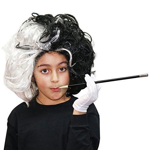 Kinder schwarz & weiß Evil Dalmatiner Damen Kostüm -