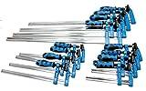 Blau behandelt 12F Klemme Bar 4x 15,2cm, 4x 30,5cm & 10,2x 61cm Lange Schnelle Slide Holz Klemme