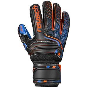 Reusch Kinder Attrakt SG Extra Finger Support Junior Torwarthandschuhe, Black/Shocking orange/deep Blue, 6