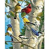 CCEEBDTO Puzzle 1000 Teile Jigsaw Puzzle Für Erwachsene Und Kinder Tierbild Für Vogel Im Winter Besonderes Geschenk Freizeit Spiel Spielzeug Home Decoration 75X50Cm